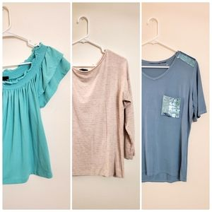 3pc Womens Tops Size S (Rue 21, ATM, etc)
